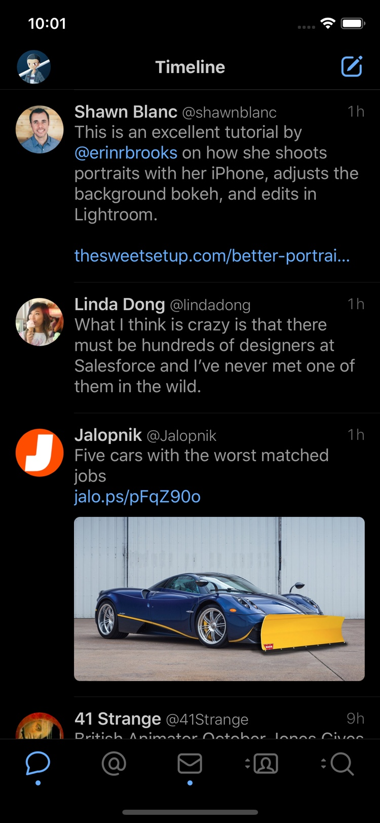 Tweetbot for iOS Night Mode